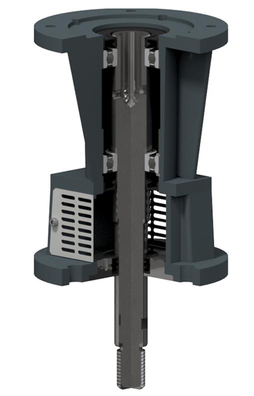 Bearing box for industrial agitators