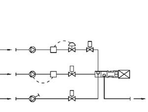 Miscelatore in linea liquido-liquido e solido-liquido con aggiunta del solido al serbatoio